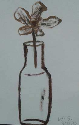 Flower in a bottle